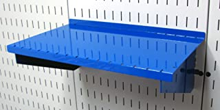 product image for Wall Control Pegboard Shelf 9in Deep Pegboard Shelf Assembly for Wall Control Pegboard and Slotted Tool Board – Blue