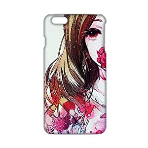 Fortune 3D Case Cover Beautiful Flower Lady Phone Case for iPhone6 plus