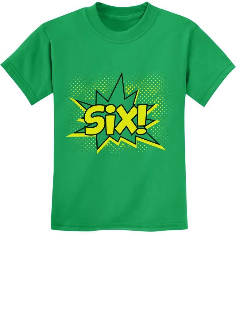 Six Superhero Sixth Birthday 6 Years Old Gift Idea T Shirt 7065