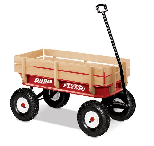 (Radio Flyer Full Size All-Terrain Steel & Wood Wagon)