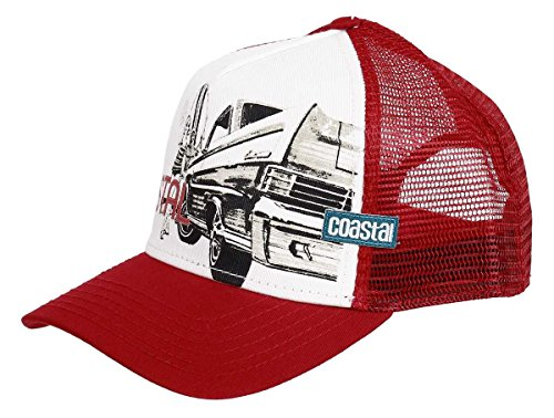 deep High Trucker Fitted Chicks Surf amp; red COASTAL amp; Cap Cars qZRwzXg
