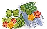 Molds For Vegetables And Fruits - Fantastic Shapes To Vegetables And Fruits - Heart And Star - Molds For Vegetables And Fruits - Fantastic Shapes To Vegetables And Fruits - Heart And Star - 4 pieces.