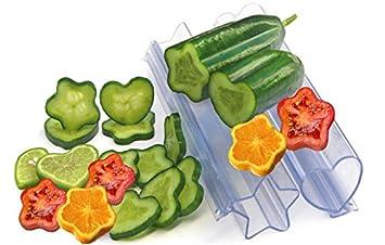 FLORI Moldes para verduras y frutas - Fantásticas formas para verduras y frutas - corazón y estrella: Amazon.es: Jardín