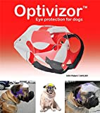 Optivizor Short Snout Dog Eyes & Face Protector, Large 73-99 Lbs, Head Measurement 8.3-9.4 inches