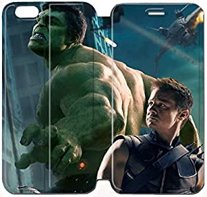 Flip Folio Leather Case for iPhone 6 plus 5.5 inch Cell Phone Case Hulk The Avengers Jeremy Renner Hawkeye HPM4629339