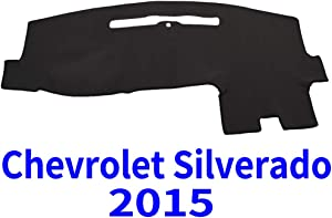 JIAKANUO Auto Car Dashboard Carpet Dash Board Cover Mat Fit for Chevy Chevrolet Silverado 2015 (Black)(MR-016)