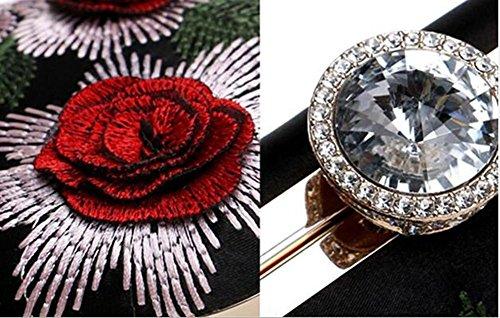 Sac Sacs Femmes Épaule Mariage Soirée Fleur Chaîne De WBAG Embrayage À Broderie Red Robe Main P45wqad