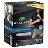 Depend Real Fit Maximum Absorbency Underwear Small/Medium for Men, 12 Count