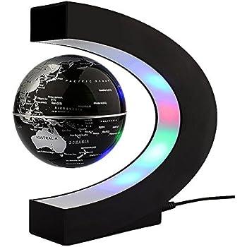 Senders floating globe with led lights c shape magnetic levitation floating globe - Idee regalo ragazzo 13 anni ...