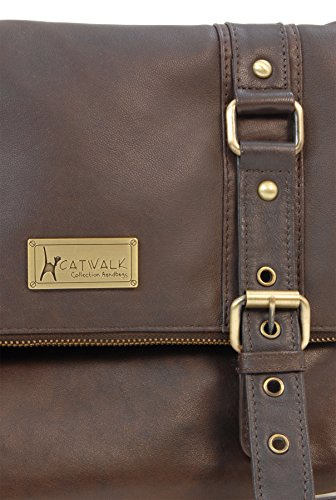 Bag Abbey Brown Catwalk Collection Leather Cross Road Catwalk Collection Body xp7w6qR