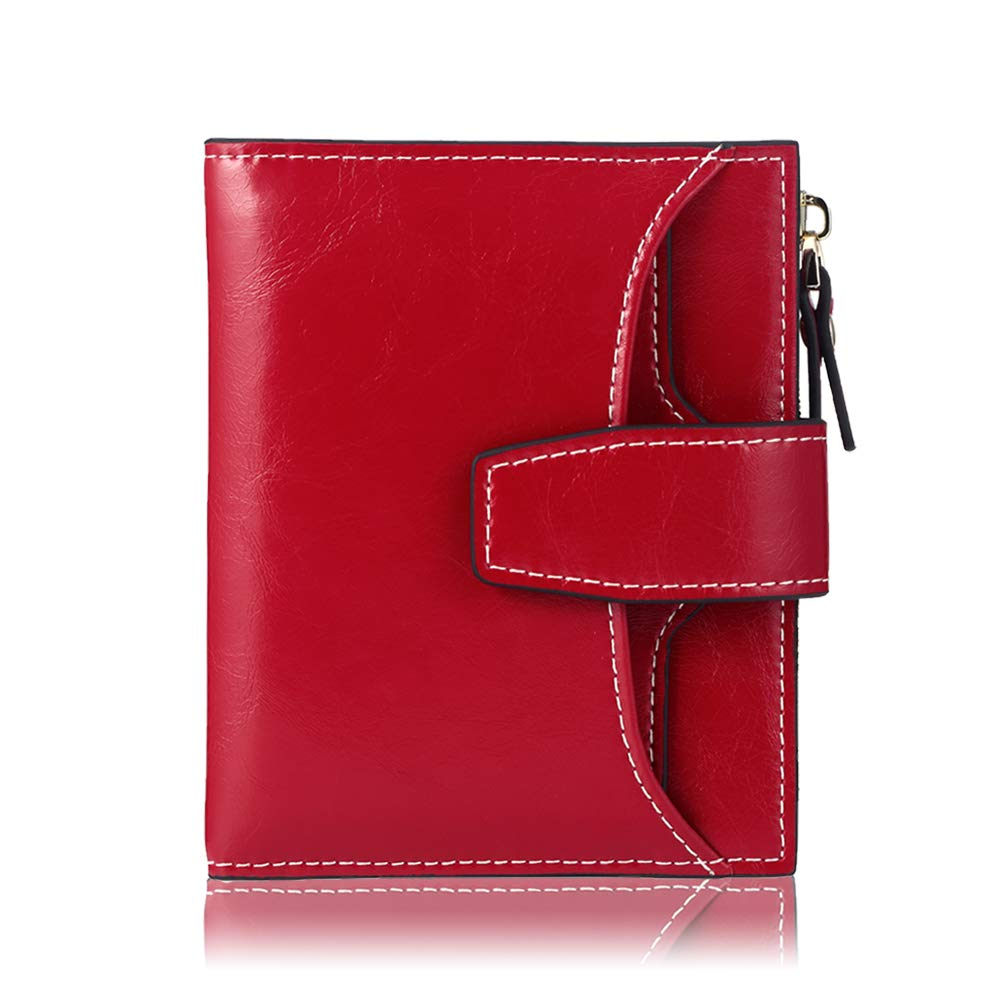 FT FUNTOR RFID Leather Wallet for women,Ladies Small Compact Bifold Pocket Wallet with id Window by FT FUNTOR