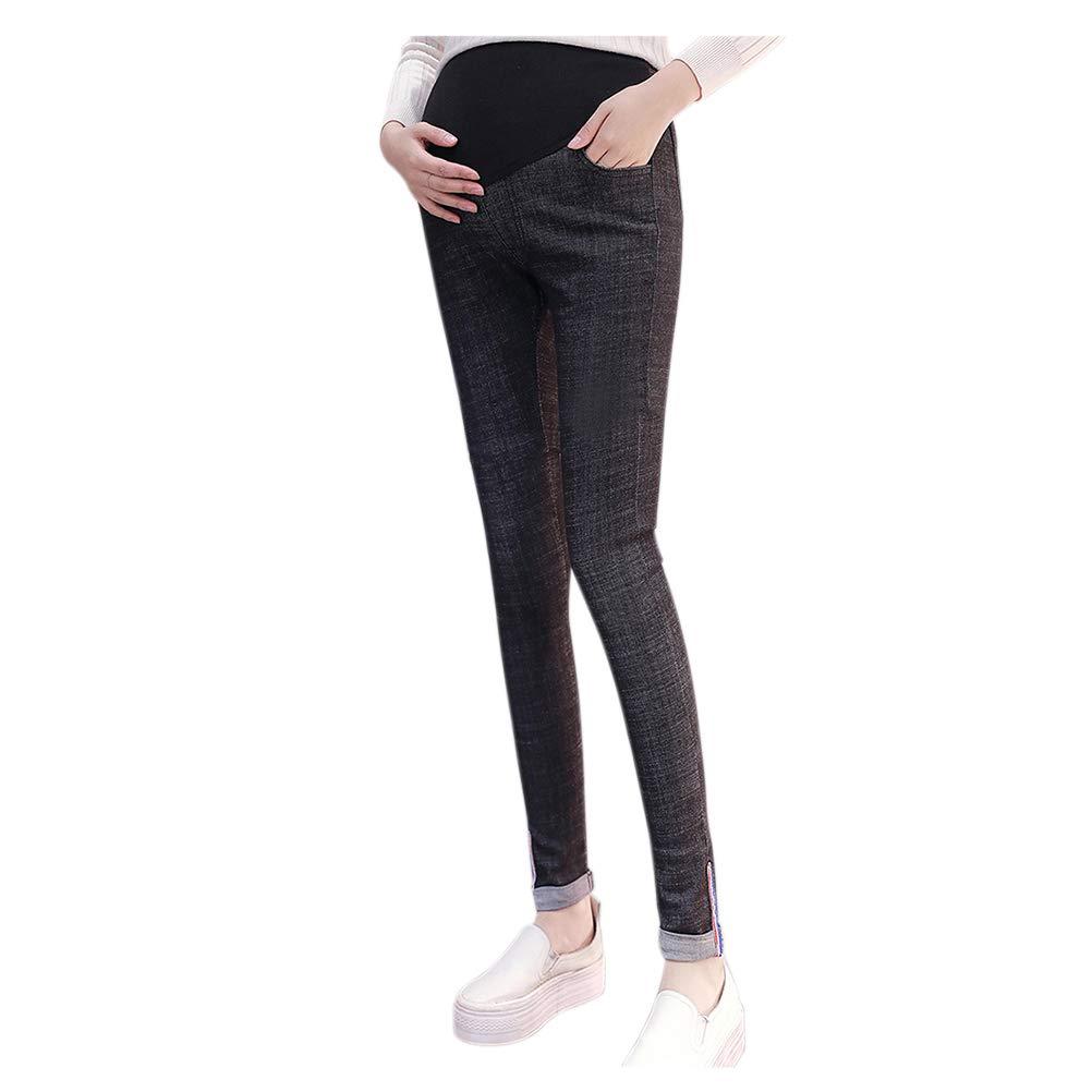 Hzjundasi maternit/à Elastico Jeans Donne Incinta Regolabile Pantaloni