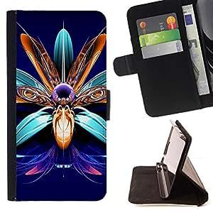 BullDog Case - FOR/HTC One M7 / - / flower art precious stones design jewelry /- Monedero de cuero de la PU Llevar cubierta de la caja con el ID Credit Card Slots Flip funda de cuer