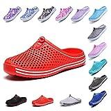 OUYAJI Garden Clog Shoes Beach Footwear Water bash Womens Summer Slippers 407Red-39