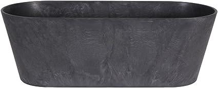 Ivyline 122485 Artstone Blumenkasten Claire grau 57 x 18 x 31 cm