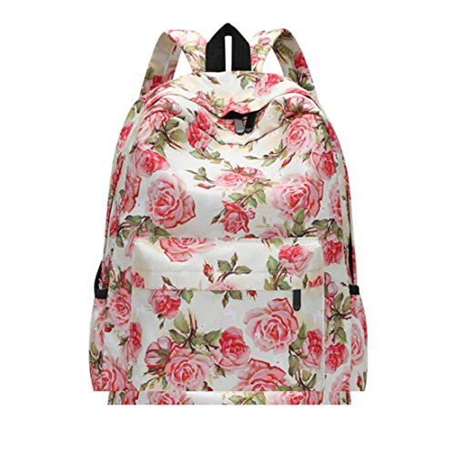 Floral Printing Women Backpack Fashion Designer School Bag for Teenage...