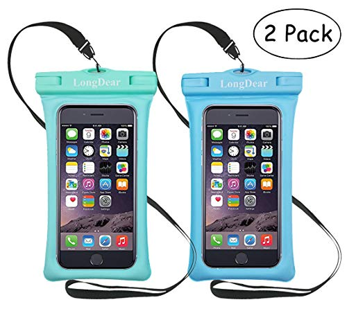 Universal Floating Waterproof Case,Cell Phone Pouch Dry Bag for iPhone Xs Max/Xr/X/8/8plus/7/7plus Galaxy s9/s8 Note 9/8 Google Pixel up to 6.5