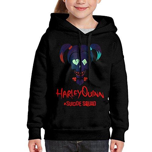 RIVERS Harley Quinn Hoodies For Girls Youth Sweatshirt Medium (Harley Quinn Children)