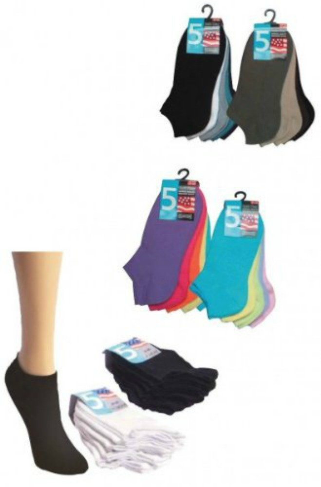 10x TippTexx24® Hombre o Mujer Sneakers Calcetines tamaño 37–42Color Colores para Mujer