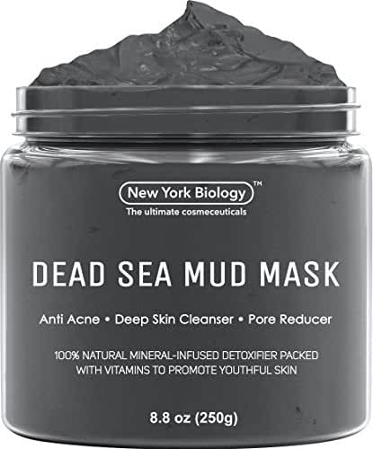 Dead Sea Mud Mask for Face & Body - 100% Natural Spa Quality - Best Pore Reducer & Minimizer to Help Treat Acne , Blackheads & Oily Skin – Tightens Skin for a Visibly Healthier Complexion – 8.8 OZ