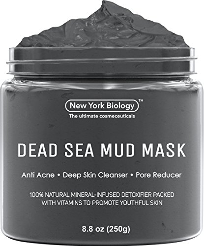 New York Biology Dead Sea Mud Mask for Face and Body - All Natural - Spa Quality Pore Reducer for Acne, Blackheads and Oily Skin - Tightens Skin for A Healthier Complexion - 8.8 oz (Best Lush Face Mask For Acne)