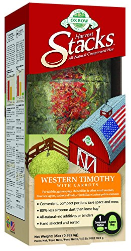 51asbfObFeL - Oxbow Animal Health Harvest Stacks Western Timothy with Carrot Pet Food, 35-Ounce