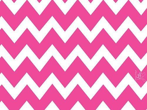 Hot Pink & White CHEVRON STRIPE Gift Wrap Wrapping Paper - 1