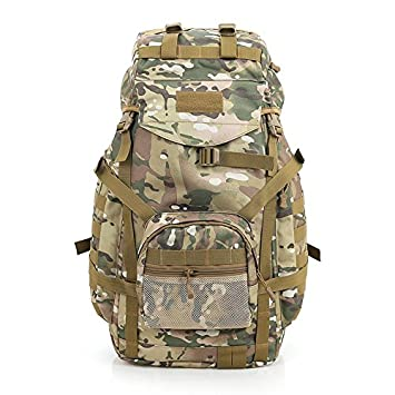 d685c2670579 Yaekoo Outdoor 75L Tactical Military Backpack Large Waterproof Bag Great  for Hiking Camping Traveling