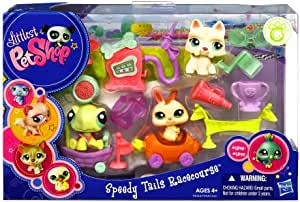 Amazon Com Littlest Pet Shop Speedy Tails Racecourse Set