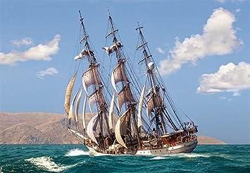 Segelschiffe auf dem meer sonnenuntergang  PUZZLE 1500 Teile - Segelschiff Schiff Meer Boot Kinder Bild ...