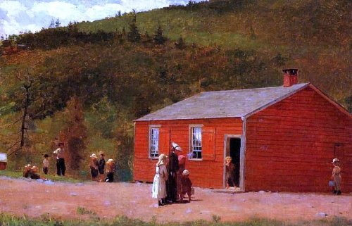 Art Oyster Winslow Homer School Time - 18.1'' x 27.1'' 100% Hand Painted Oil Painting Reproduction