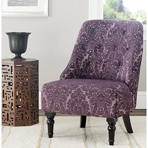 Safavieh Mercer Collection Stacy Indigo and Purple Armless Club Chair (Armless Club Chair)