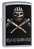 Iron Maiden Zippo Outdoor Indoor Windproof Lighter Free Custom Personalized Engraved Message Permanent Lifetime Engraving on Backside