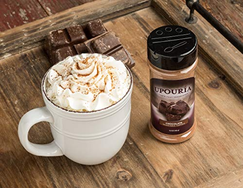 Upouria Coffee Topping Variety Pack - Chocolate, Cookies N Cream, French Vanilla and Cinnamon with Browns Sugar - 5.5 Ounce Shakeable Topping Jars - (Pack of 4) by Sunny Sky (Image #5)