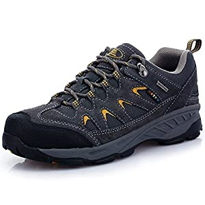 The First Outdoor Men's Hiking Shoe Antiskid Rubber Lace Up Trekking Sneakers Sports