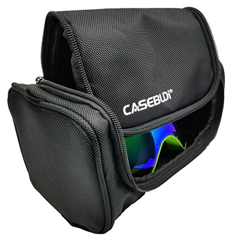 CASEBUDi - Rugged Goggle Case - Ballistic Nylon - Room for Ski, Snowboard, VR, Night Vision, ATV, Motocross, Paintball, Safety, or other Goggles and Gear by CASEBUDi