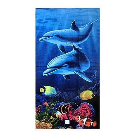 """Toalla de playa """"Delfín, 76/152 cm aprox., 100"""