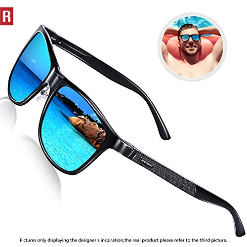 85bb72e9659 ROCKNIGHT Polarized Sunglasses for Men Women Driving Sunglasses Blue  Mirrored Sunglasses Fishing UV400 Al-Mg Outdoor Fishing Shades