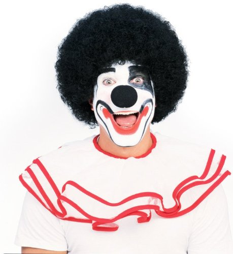 Unisex Afro Wig/ Assorted Color Clown Wigs, Black, One (Celebrity Baby Halloween Costumes)