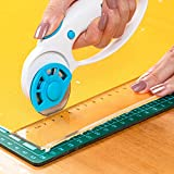 NICAPA 45mm Rotary Cutter for Fabric with Safety