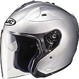 HJC Metallic FG-JET 3/4 Open Face Motorcycle Helmet - Silver / 2X-Large