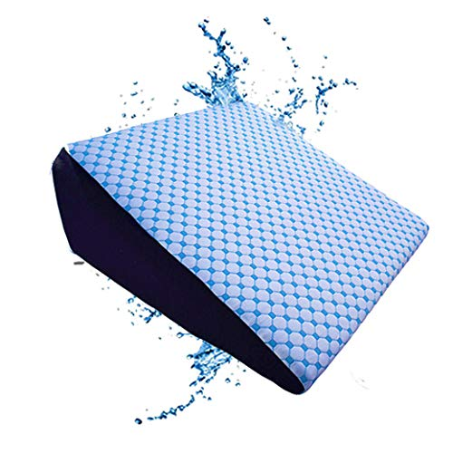 The Coldest Wedge Pillow - Therapeutic Best for Sleep, Acid Reflux Side Leg Sleeping Snoring Apnea Baby Memory Foam - Washable Cover, Made in USA