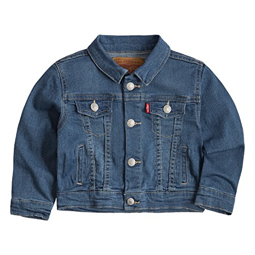 Levi's Baby Boys Denim Trucker Jacket, Sea Salt, 24M