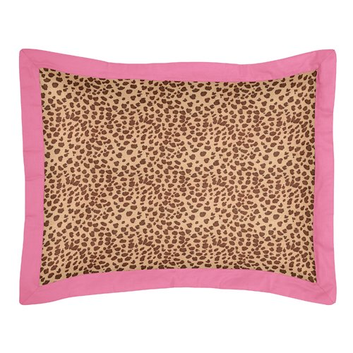 Cheetah Girl Pink and Brown Childrens Bedding 4pc Twin Set