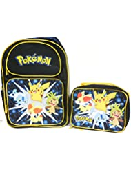 Pokemon Pikachu Diamond Pearl Large Backpack Bag w/ Matching Lunch Bag
