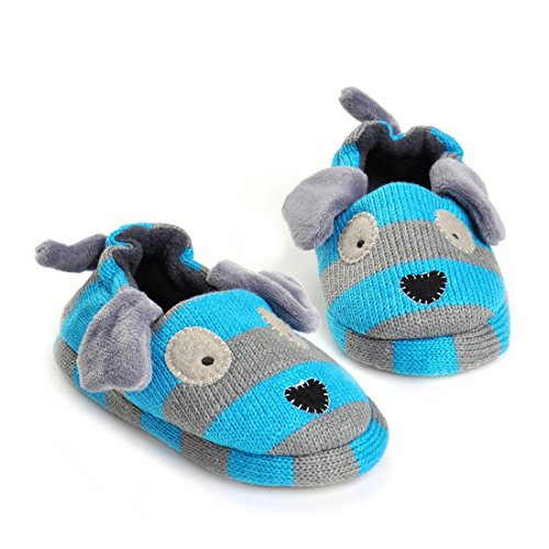 Image of Beeliss Toddler Boys Slippers Cartoon Puppy Crochet Shoes