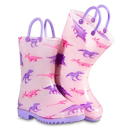 Chillipop Toddler 5-10 Girls Pink Dino PVC Rain Boot, Available in All Kid Sizes by Chillipop (Image #2)