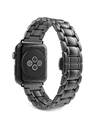 Apple Watch Band Series 1 Series 2, MoKo Stainless Steel Metal Replacement Smart Watch Strap Bracelet for Apple Watch 42mm All Models - Space GRAY (Not Fit iWatch 38mm 2016)