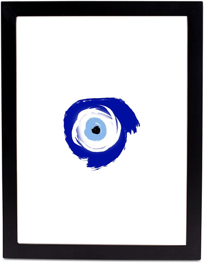 Positively Home Evil Eye Brush Stokes Framed Graphic Art 20 X 30 Black Posters Prints