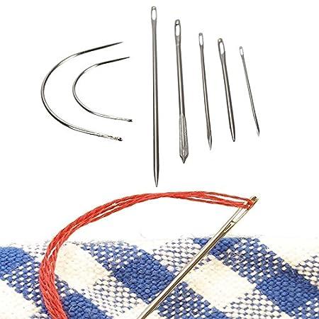 Tiptiper 7 Unids Reparación de la Mano Agujas de Costura Patching ...